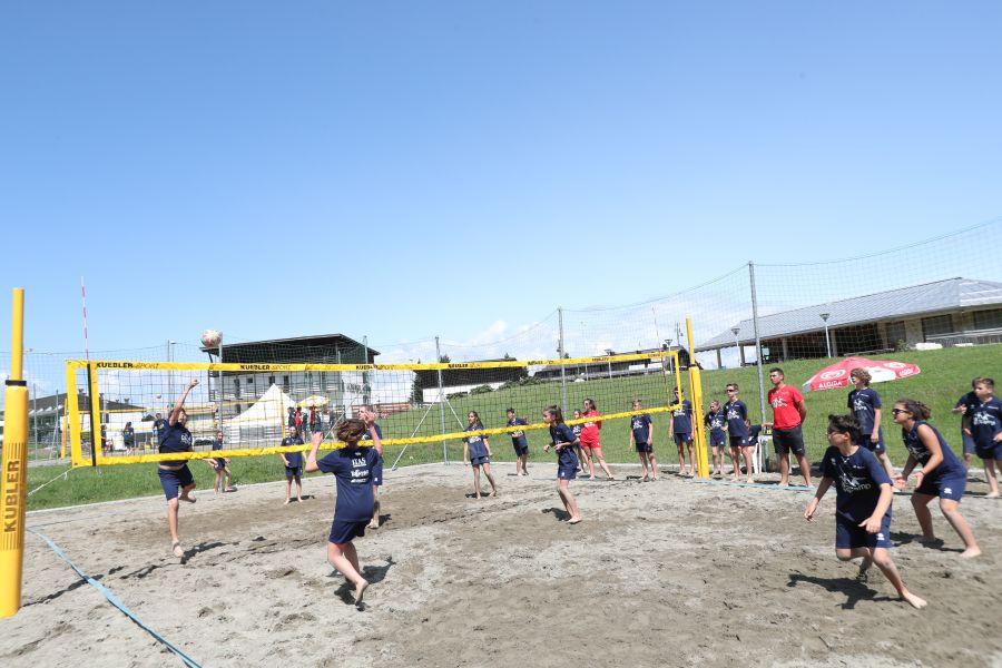 Attività sui campi da beach