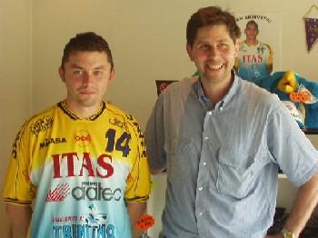 Edoardo Rabezzana eí il secondo  palleggiatore dellíItas Grundig Trentino.